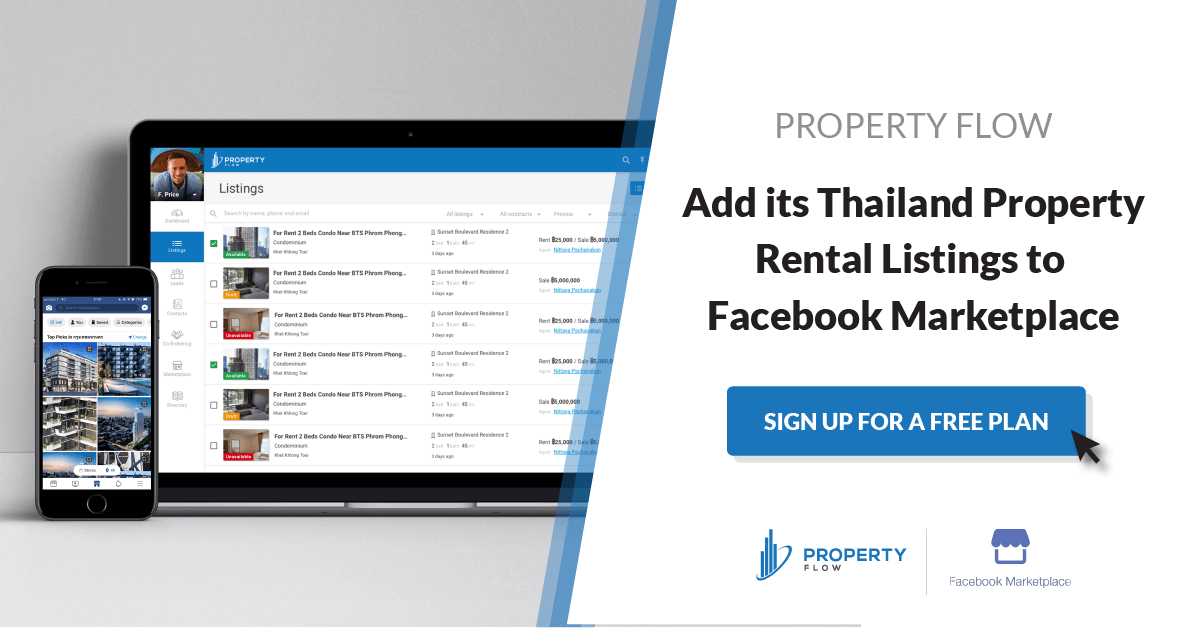 Property Flow partners with Facebook Marketplace to provide property rental listings in Thailand